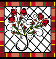 background red roses vector image vector image