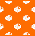 basement window frame pattern orange vector image vector image