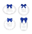 Beautiful cards with gift bows with ribbon vector image vector image