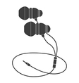 Black Headphones vector image vector image