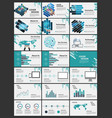 blue elements for infographics presentation vector image vector image