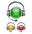 Call-center buttons vector | Price: 1 Credit (USD $1)