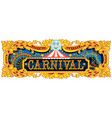 carnival banner circus template vector image vector image