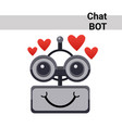 cartoon robot face smiling cute emotion lovely vector image vector image
