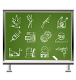 chalk mafia icons vector image vector image