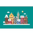 Christmas City Background vector image