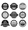 collection premium quality and guarantee labels vector image