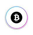 cryptocurrency coin bitcoin icon on white vector image vector image