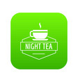 cup tea icon green vector image