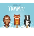 Cute animal popsicles ice vector image vector image