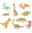 Dinosaurs Of Jurassic Period Set Of Prehistoric vector image vector image