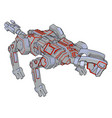 dog robot on white background vector image vector image