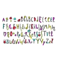 doodle colorful kids alphabet vector image