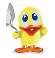 duck with trowel vector image vector image
