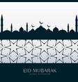 eid festival greeting design background vector image vector image