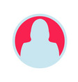 female user icon eps app avatar icon woman vector image vector image