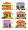 flat store modern shop boutique shopfront and vector image vector image