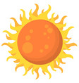 flat sun icon sunlight symbol vector image