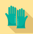 forensic lab gloves icon flat style vector image