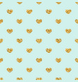 gold heart seamless pattern golden geometric vector image vector image