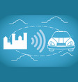 gps tracking technology vector image vector image