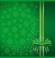 green background for st patricks day vector image vector image