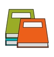 Isolated books design vector image vector image