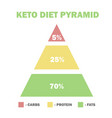 ketogenic diet macros pyramid low carbs high vector image