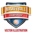 Label for basketball sport competition Bright vector image