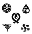 leukemia icons set vector image vector image