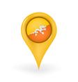 Location Bhutan vector image