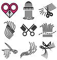 logo icons barbershop vector image vector image