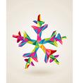 Merry Christmas celebration multicolors snowflake vector image vector image