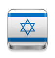 Metal icon of Israel vector image