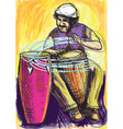 Musician - Conga Player vector image vector image