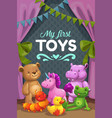 my first toys group stuffed animals vector image