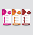 number option banners design vector image vector image