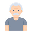 old man avatar flat style icon vector image vector image