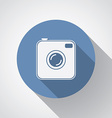 Old photocamera flat icon with long shadow vector image vector image