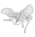 oriental stork bird tattoo vector image