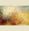 polygon background bronze gold vector image vector image