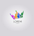 polygonal crown logo design vector image