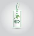 realistic eco banner design vector image