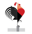 red cock on white background vector image vector image