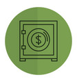safe box isolated icon vector image vector image