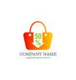 sale discount bag logo design vector image