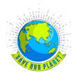 save our planet concept eco ecology earth climate vector image vector image