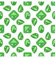 seamless pattern with precious gem emerald vector image vector image