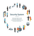 security system people and equipment 3d banner vector image