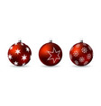 set 3d christmas balls with decorative ornament vector image vector image